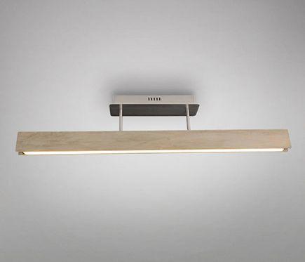 Nave Plafón 1 luz LED Marrón 30W
