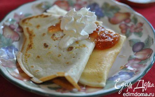 Блинный завтрак  кефир низкокалорийный 2 ст, яйца 4 шт, мука 1,5 ст. 1 ст.л. раст.масла, 3 ст.л. сахара