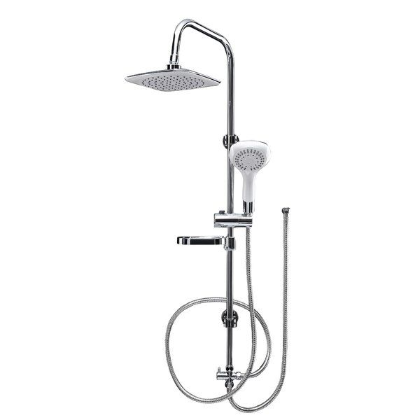 A sleek addition to your bathroom, this shower rail kit features a chrome finish.
