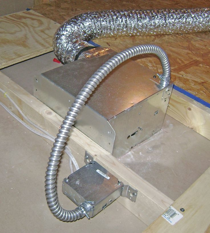 How To Finish A Basement Bathroom: Install And Wire The Combo Bathroom  Ventilation Fan And