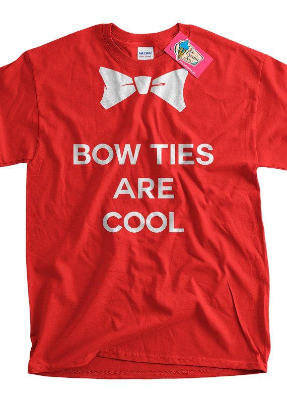 Funny Bow Tie T-shirt Bow Ties Are Cool T-shirt Funny Geek T-shirt Screen Printed T-Shirt Tee Shirt Mens Ladies Womens Youth Kids