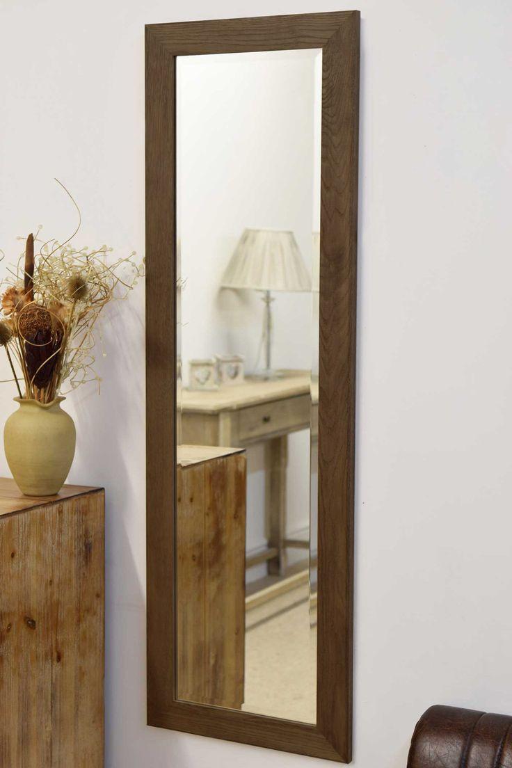 Rustic oak full length mirror