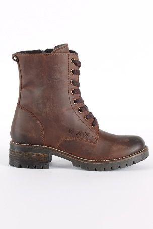 Ønsker mig sådan et par støvler - Lækre brune skindstøvler med snørre