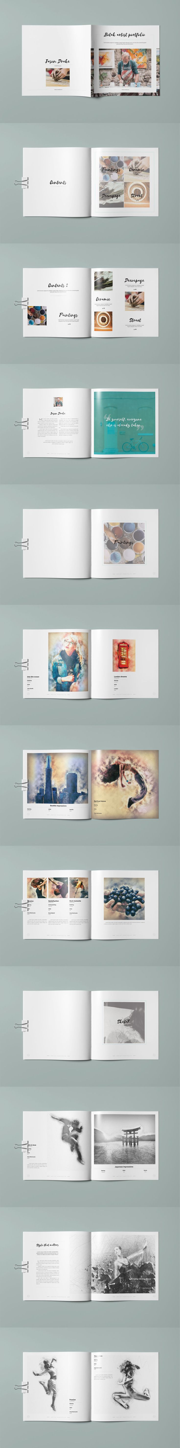 Clean Brochure for Universal Artistical Content - Template Adobe InDesign INDD
