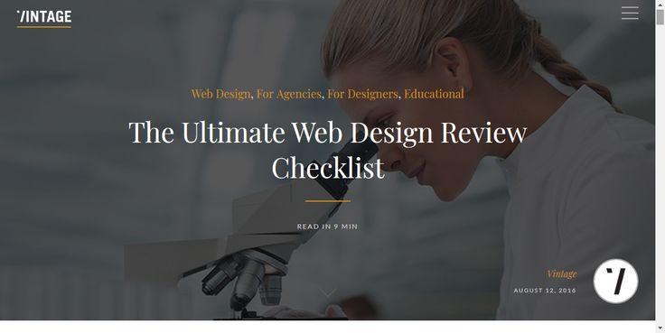 Vintage Web Design Checklist