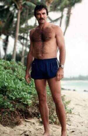 Tom Selleck as Magnum PI- Ladies they just don't make em like this anymore!