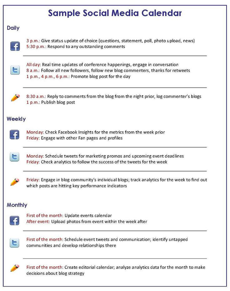 Social Media Plan Template Marketing Plan Example Hakkında - Social media marketing business plan template