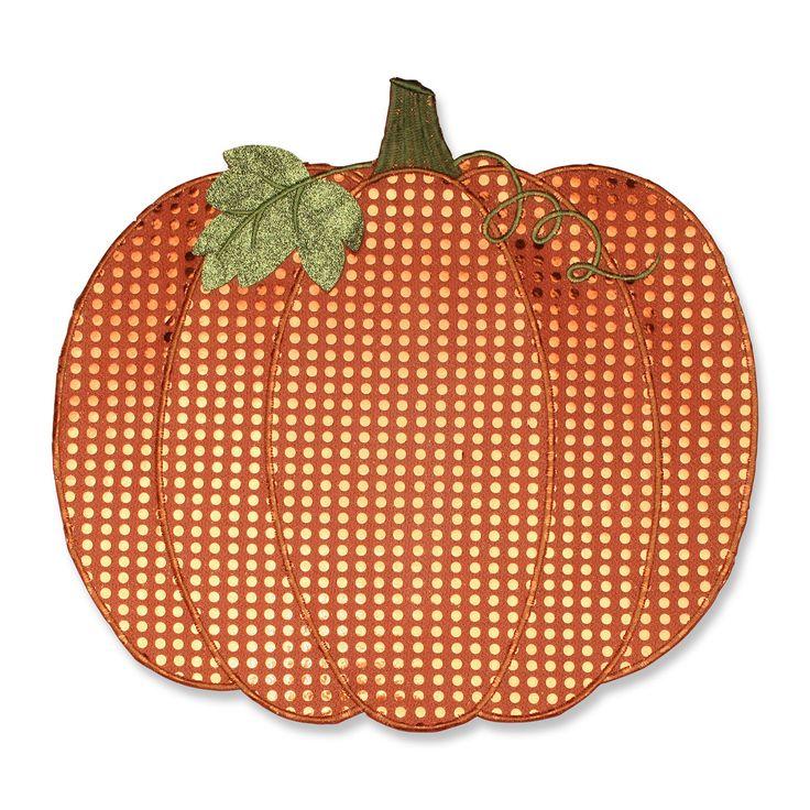 Pillow Perfect Pumpkin Orange Placemat - Set of 2 - 579153