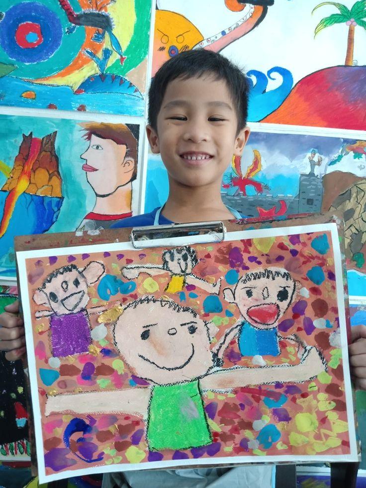 ผลงานภาพวาดของน องโบน ส ช อภาพ ครอบคร ว ครอบคร ว