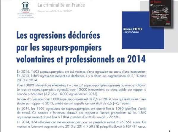 agressions pompiers