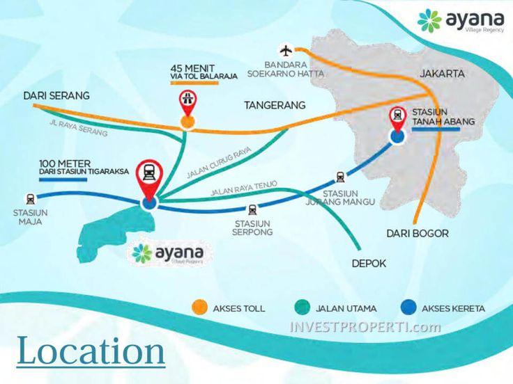 Peta Lokasi Ayana Village Tigaraksa