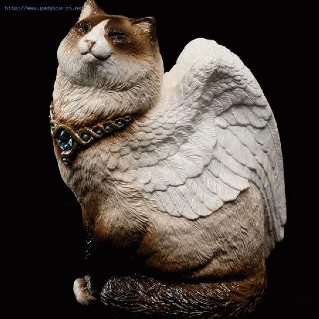 この商品は、「WINDSTONE BROWN&WHITEシャム「バーマン」小鳥翼猫の置物、STATUE / WINDSTONE BROWN & WHITE SIAMESE 'BIRMAN' SMALL BIRD WINGED CAT FIGURINE, STATUE」です。その他