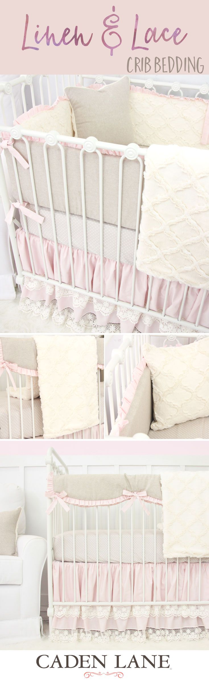 Create a gorgeous nursery for your baby girl with crib bedding that works in almost any setting!