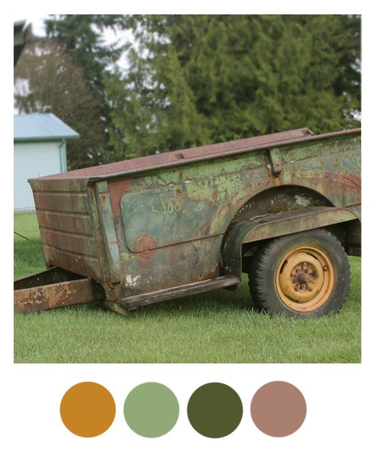 Color Palette: Goldenrod, Mint, Hunter Green, and Lavender
