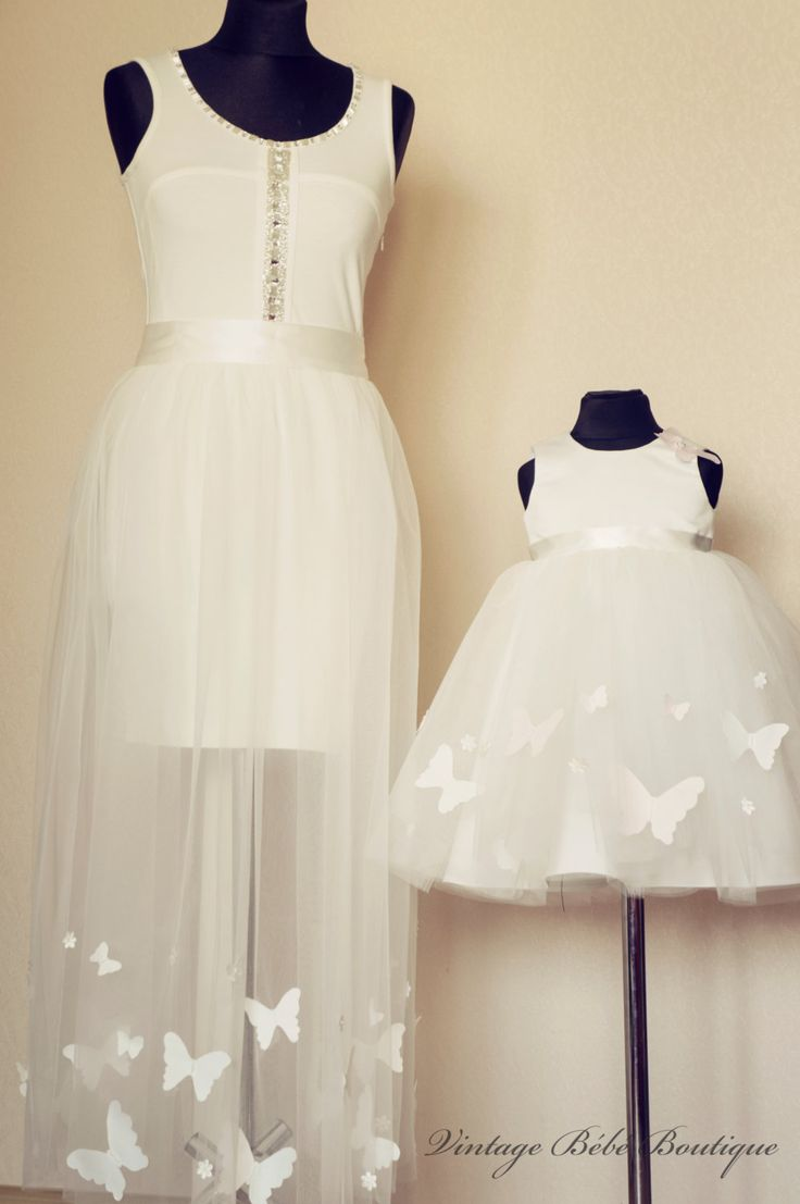 Christening dress Flower girl dress Girl by VintageBebeBoutique, $120.00