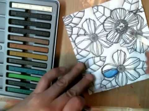 Using Inktense Blocks and Pencils on fabric - YouTube. Use Liquitex Fabric Medium; it doesn't have to be heat set. GAC 900 is matte finish; Liquitex has some gloss. Put a resist around the border; Elmer's Washable School Glue suffices. myb