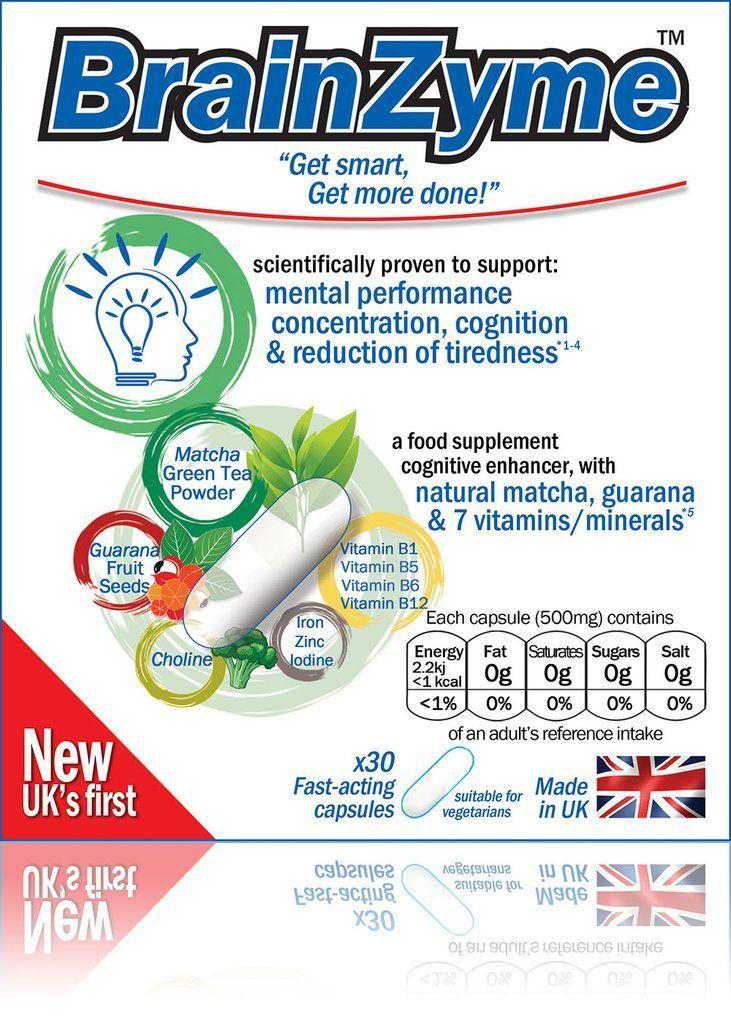 newest 85143 7e257 BrainZyme Cognitive Enhancer (Original) - A  natural smart pill  with  matcha,