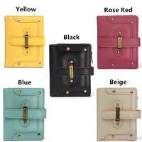 Women Short Wallet Girls Buckle Purse Card Holder Coin Bags Phone Bags