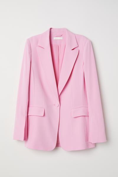 Single-breasted jacket - Light pink - Ladies | H&M GB 1