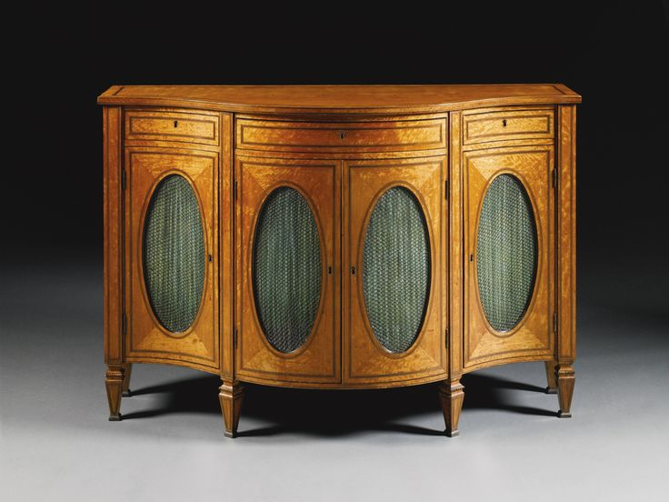 A George III satinwood and amaranth inlaid serpentine side cabinet circa  1780 - 713 Best Georgian Furniture Images On Pinterest Auction, Antique