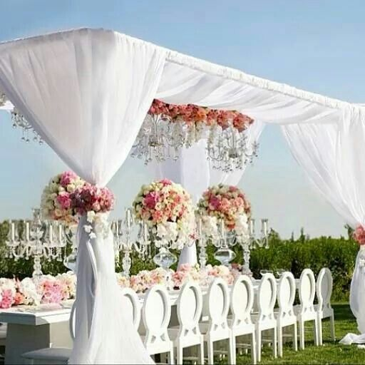 34 best wedding decor images on pinterest wedding decor wedding planners lovely white draping and crystal candelabras at a pink garden wedding nigerian wedding junglespirit Gallery