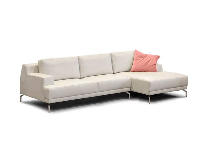 ITALDIVANI MEUBLES INC. - CANALI - Sectional with chaise, different dimensions available. Wide selection of leathers and fabrics. Made in Canada.