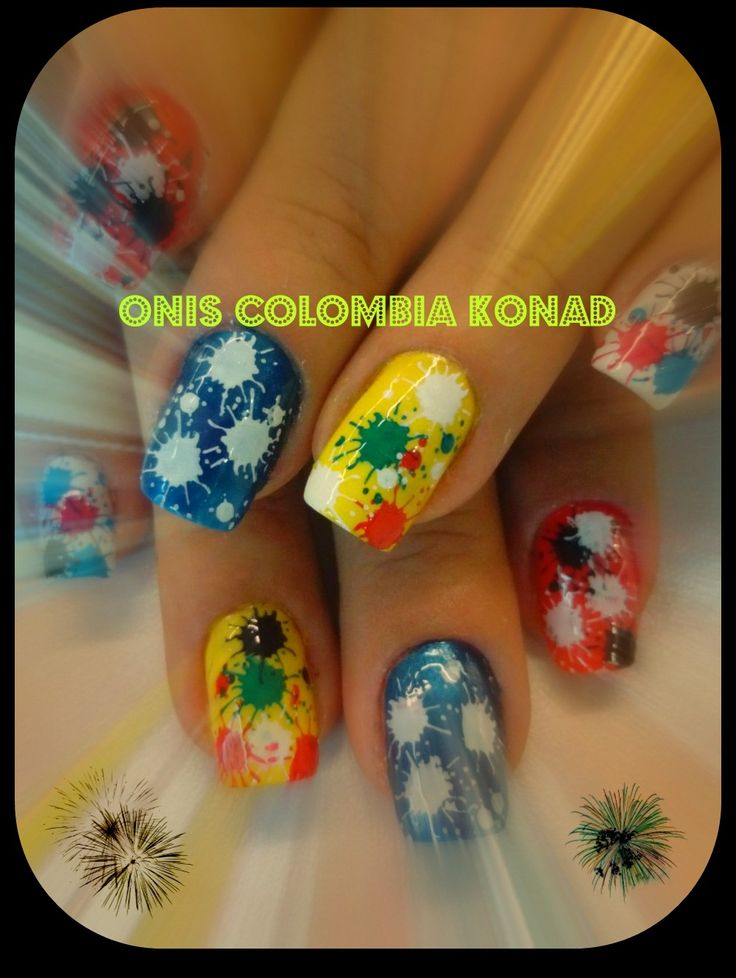 #nail #art #konad #colors