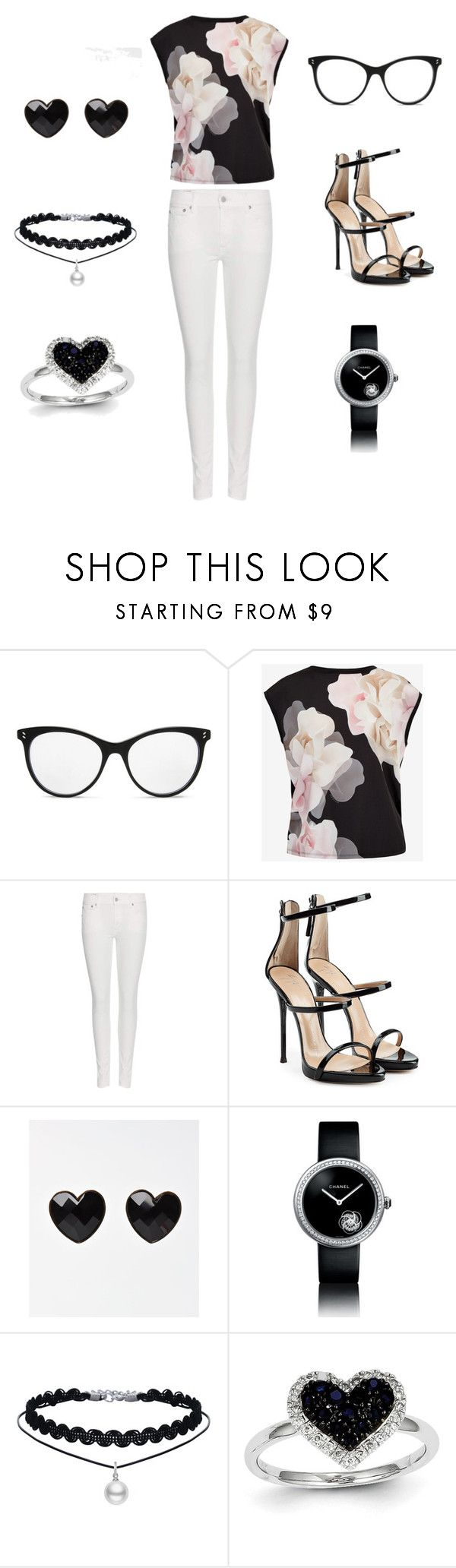 """Untitled #33"" by maya2005 ❤ liked on Polyvore featuring STELLA McCARTNEY, Ted Baker, Polo Ralph Lauren, Giuseppe Zanotti, Chanel and Kevin Jewelers"
