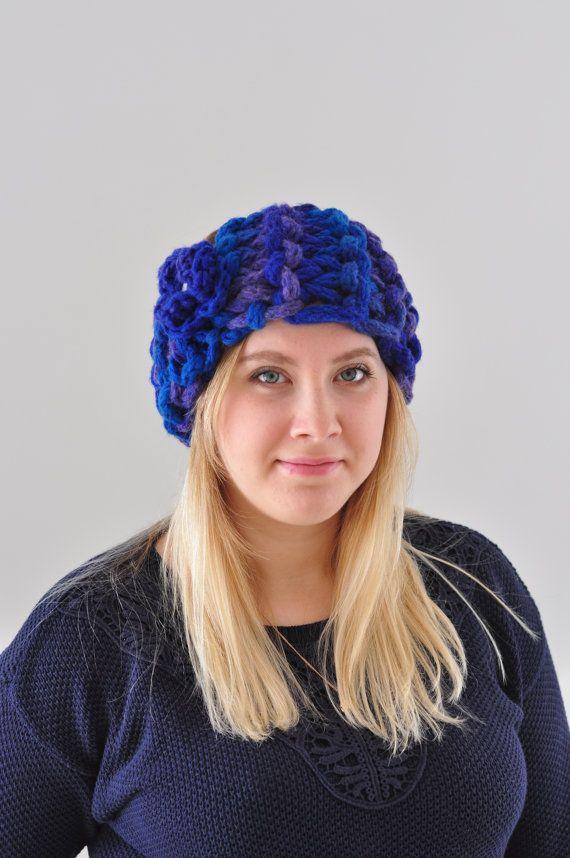 Кабель Трикотаж уха Теплее Голубой шерсти головная повязка для женщин по Monpasier