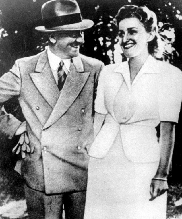 Secret lovers: Adolf Hitler and Eva Braun inside the bunkers