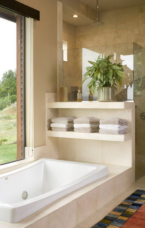Cool And Modern Tub In Small Bathroom Designs