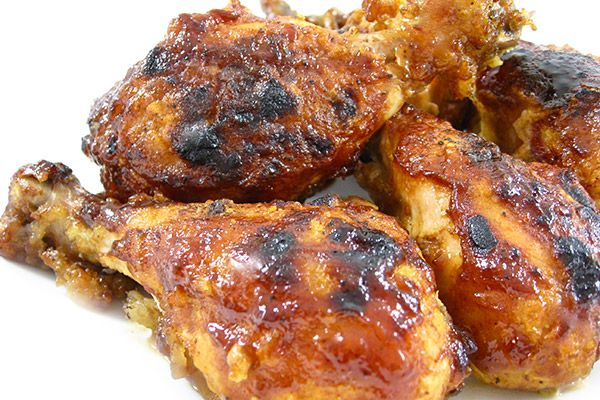 Skinny Hot and Spicy Chicken Legs. Think spices of hot wings, fried chicken and barbecue chicken all in one! Each has 145 calories, 4g fat & 3 Weight Watchers PLUS POINTS. http://www.skinnykitchen.com/recipes/skinny-hot-and-spicy-chicken-legs/