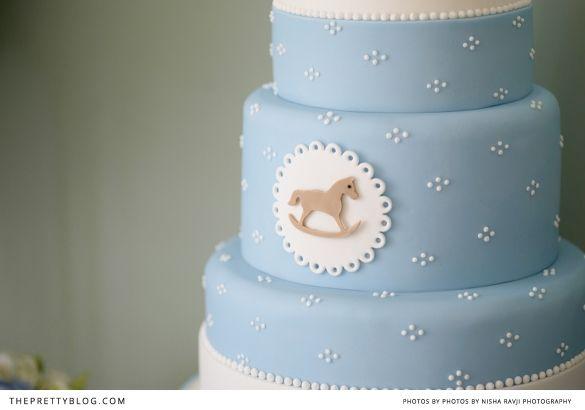Rocking horse cake for baby shower | Photographer: Nisha Ravji, Coordinating: White Door Events