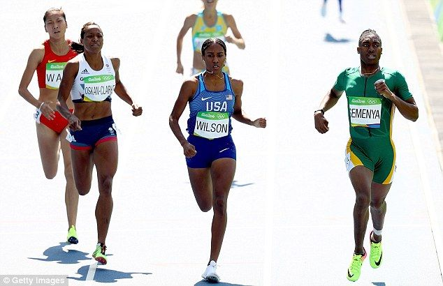 Caster Semenya breezes into 800m Olympic Games semi-finals as GB's Lynsey Sharp joins gold favourite | Daily Mail Online