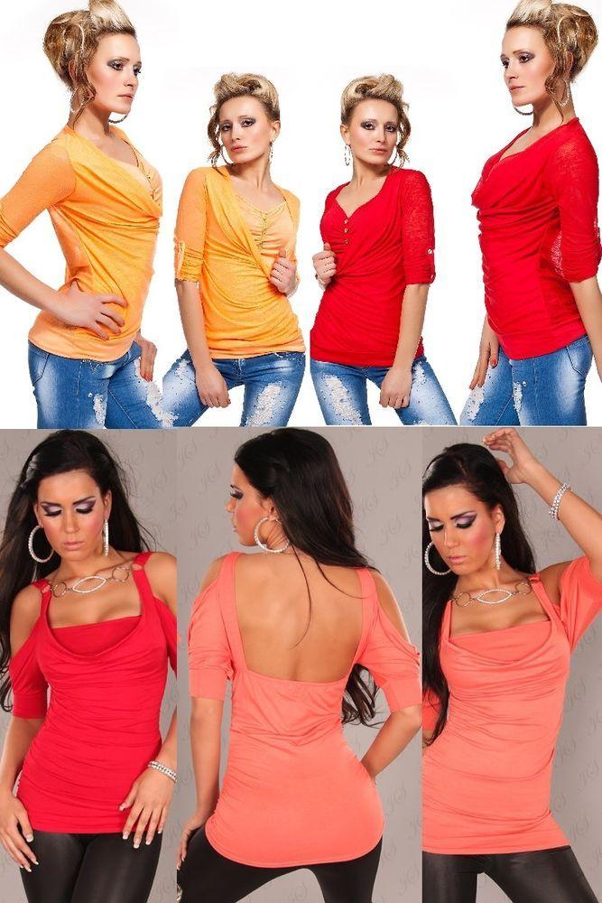 Freizeitshirt TrägerTop PartyShirt,Longshirt,Longtop,Tunika,Bluse Hüftlang34-38