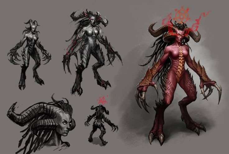 Lords of Discord. Succubus #concept  #Herocraft #Game #RPG #strategy