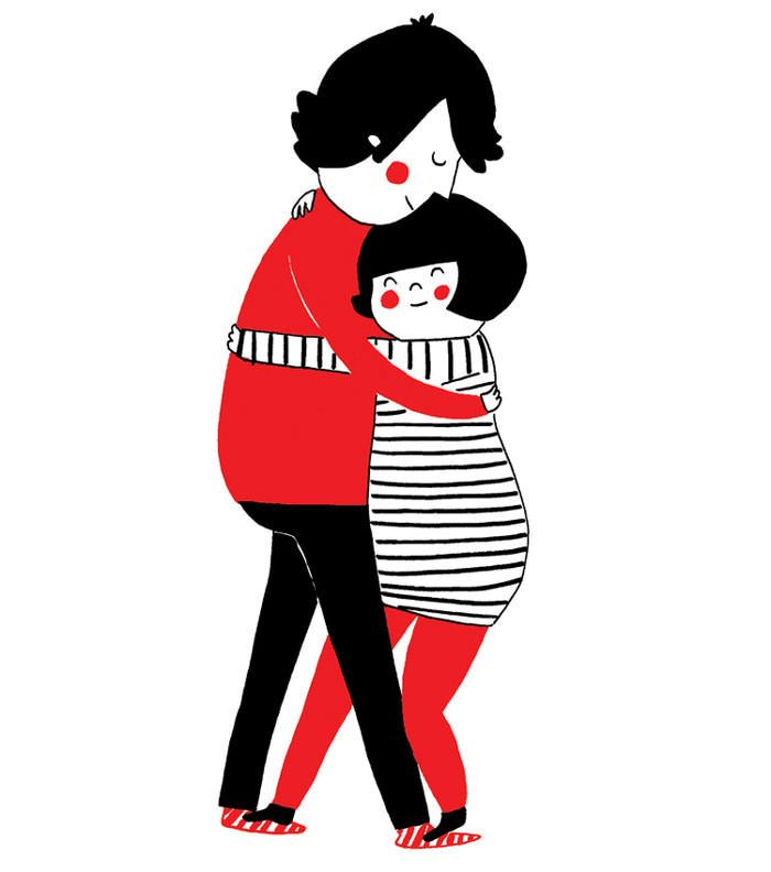 True love means putting everything aside just to hug