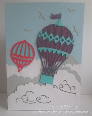 Hot Air Balloon Build A Scene card