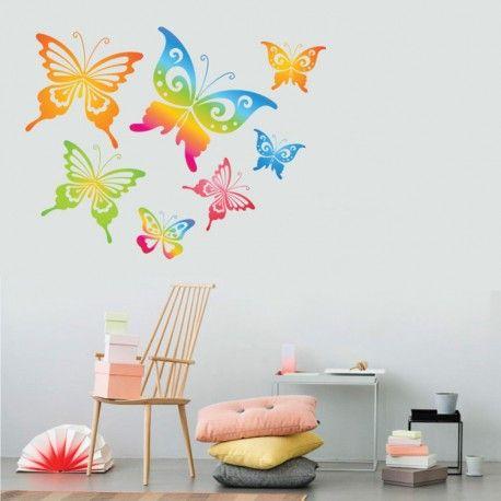 Ταπετσαρίες με πολύχρωμες πεταλούδες