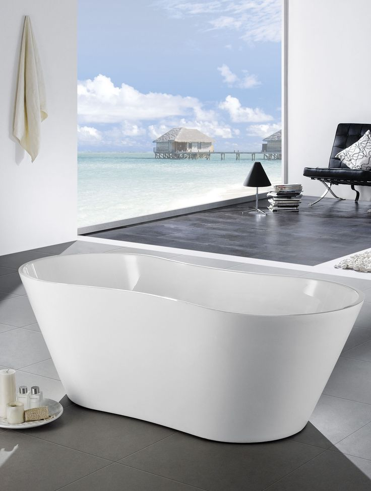 Eviva Smile Free Standing 67u2033 Acrylic Bathtub