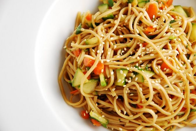 Oriental Cold Noodles Recipe � 6 Points   - LaaLoosh Entire recipe makes 6 servings Serving size is about 3/4 cup Each serving = 6 Points +