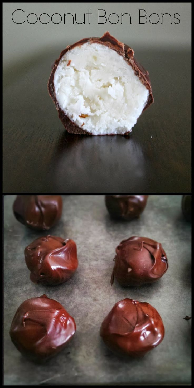 Coconut Bon Bons #Recipe #Chocolate #Coconut #Candy