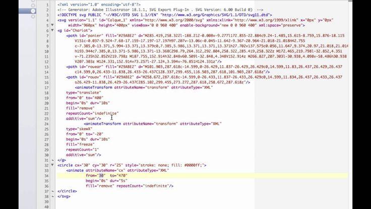 Animation SVG sans Javascript ni Css - 3