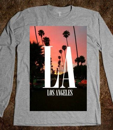 Los angeles rocker graphic tee long sleeve i want these for Los angeles california shirt
