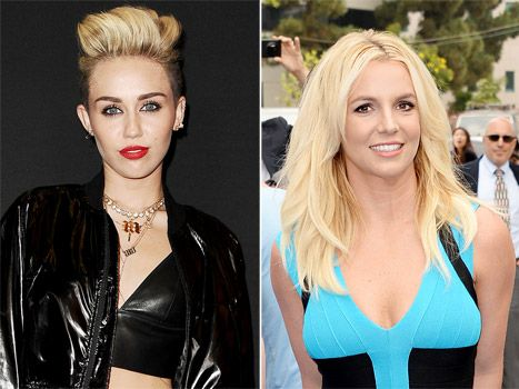 Miley Cyrus and Britney Spears.