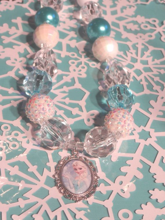 Frozen Inspired Chunky Necklace Frozen Necklace Frozen by BellaEm, $30.00