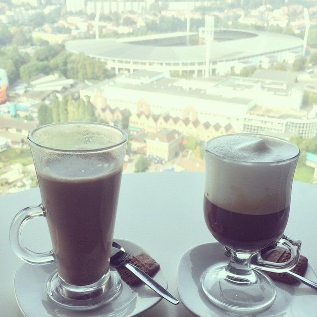 Belgian hot chocolate & cappuccino with a view from up at the Atomium. #brussels #atomium #bruxelles #coffeetime #hotchocolate #belgianchocolate #belgianhotchocolate #minieurope #belgium #foodie #foodforfoodies #foodphotography #foodspotting #instatravel #igtravel #travelgram #travelphotography #wanderlust #hkig #ukig