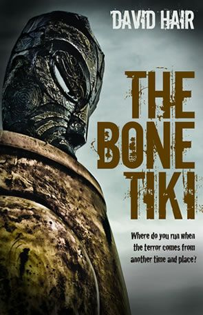 The Bone Tiki by David Hair. Matiu Douglas has a bone tiki he stole from a tangi. His father's important new client wants it. Badly. And he has some very nasty friends. When Mat is forced to flee for his life, an unexpected meeting with a girl called Pania sets his world spinning. Suddenly he's running through the bush with a girl-clown, a dog who is way too human, and a long-dead warrior. Fearful creatures from legend are rising up around him, and Mat faces a terrifying ordeal.