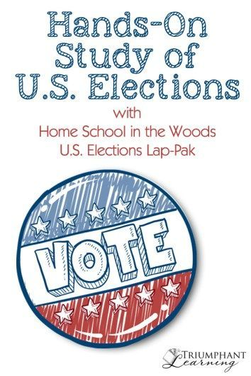 Learn about U.S. elections with this hands-on lapbook from Home School in the Woods. It is a great addition to any homeschool history curriculum that is easy to prepare and teach!