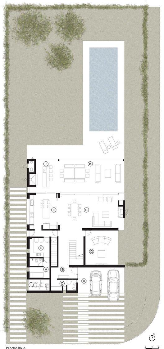 A House,Ground Floor Plan